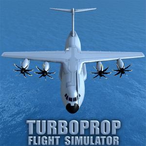 دانلود Turboprop Flight 1.25 - بازی هیجانی شبیه سازی پرواز اندروید + مود